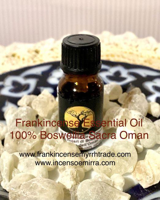 Frankincense Essential Oil in resin Al Hojary Boswellia Sacra Oman.