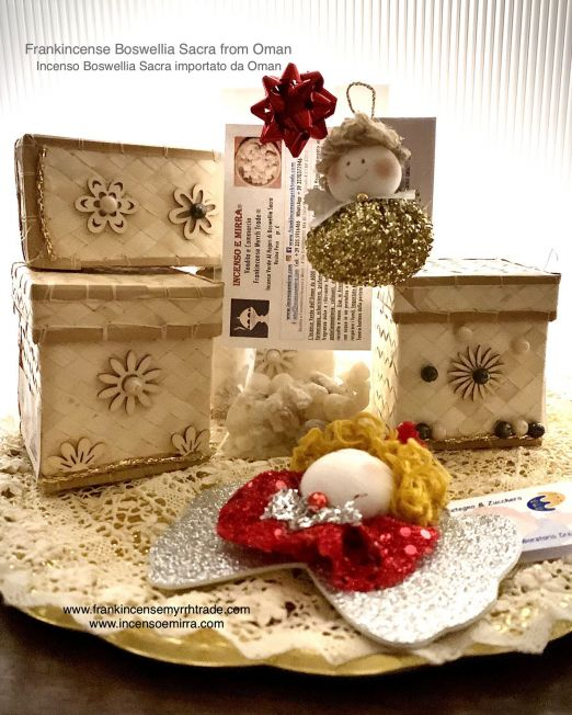 Frankincense Bosellia Sacra Christmas gift imported from Oman with box.